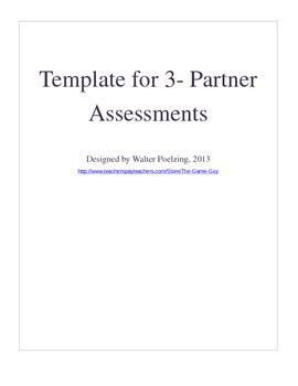 3 Partner Group Work Template Grades 6-12