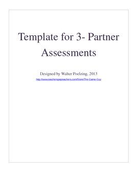 3 Partner Group Work Template Grades 6-12