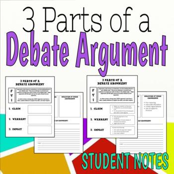 3 Parts of a Debate Argument