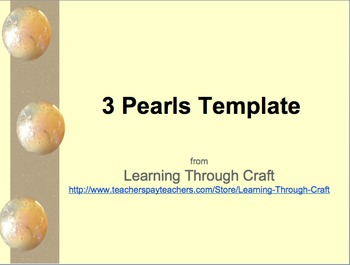 3 Pearl Marbles Template (PowerPoint Template)