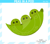 3 Peas In A Pod clipart commercial use
