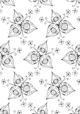 3 Petal Flower Pattern Spring Colouring Page Printable