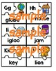3-Piece ABC Puzzles (letter, picture, word)