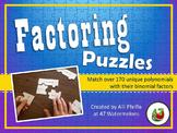 Factoring Trinomials: 3-Piece Puzzles