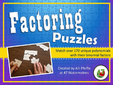 3-Piece Binomial Factoring Puzzles