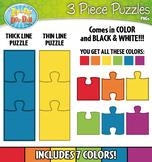3 Piece Puzzles Clipart {Zip-A-Dee-Doo-Dah Designs}