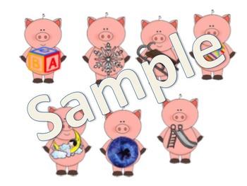 3 Pigs  L Blend Pocket Chart Picture Sort