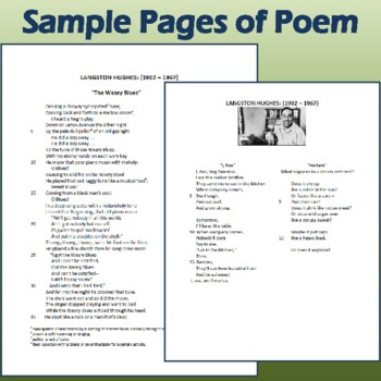 "3-Poem Author Study: Langston Hughes' ""I, Too,"" ""Harlem,"" & ""The Weary Blues"""