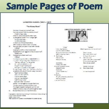 "3-Poem Author Study: Langston Hughes' ""I, Too,"" ""Harlem,"" & ""The Weary Blues"""