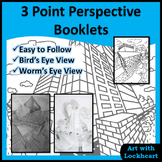 3 Point Perspective Booklets: How to Draw Boxes and a City