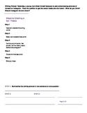 3 Point Thesis Statement Worksheet