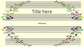 3 PowerPoint templates for Music Teachers