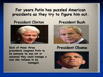 Three Presidents and a Riddle Named Putin Article