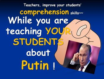 3 Presidents and a Riddle Named Putin with Vocabulary Activities