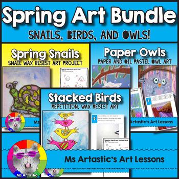 Spring Art Lessons Bundle