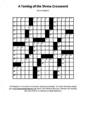 3 Puzzle Taming of the Shrew Package,Word Search Crossword