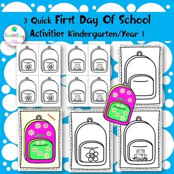 3 Quick First Day of School Activities
