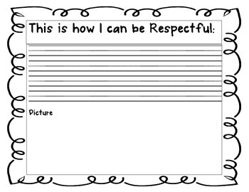 3 R's Respectful - Resourceful - Responsible - Character Education