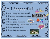 3 R's Respectful - Resourceful - Responsible - Character E