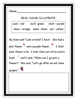 3 READ. COLOR. ILLUSTRATE. STORIES