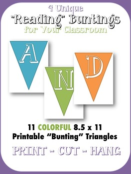 "3 ""READING"" Classroom Buntings - Printable"