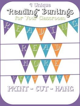 "3 ""READING"" Classroom Buntings - Printable"