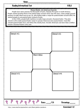 3.RI.2: Main Idea/ Detail pack of 3