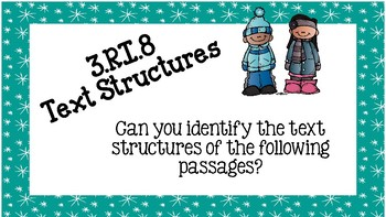 3.RI.8 Text Structures Scoot {Winter Themed!}