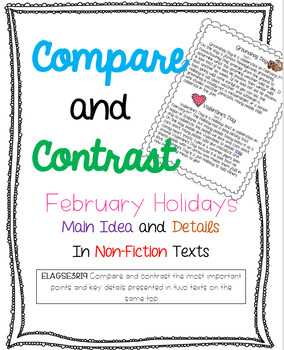 3.RI.9 Compare/Contrast Non-Fiction Texts {Feb Holiday}
