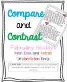 3.RI.9 Compare/Contrast Non-Fiction Texts {Feb Holiday}