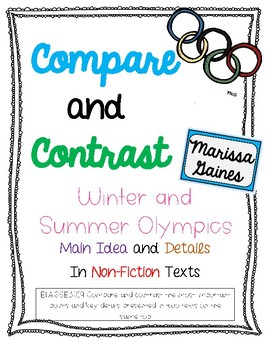 3.RI.9 Compare and Contrast Informational {Winter and Summer Olympics}