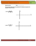 3 Rational Functions Assignments: Graphing and Applications