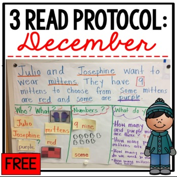 3 Read Protocol December: Math Strategy Freebie