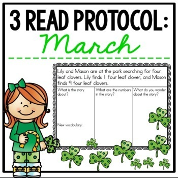 3 Read Protocol March {A Close Read of a Math Story}
