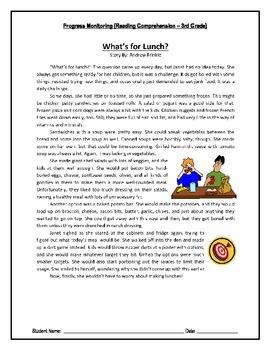 3 Reading Comprehension - Grade 3 (Progress Monitoring)