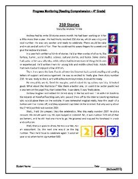 3 Reading Comprehension - Grade 4 (Progress Monitoring)