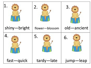 Reading Whole Group Activities and Worksheets--Circus Theme (lions)