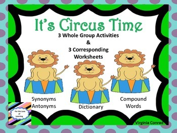 Reading Whole Group Activities and Worksheets--Circus Them