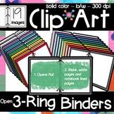 3 Ring Binders Clip Art