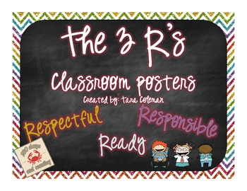 The 3 R's (classroom posters)~Respectful, Responsible, Ready