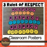 3 Rules of Respect - Classroom Decoration