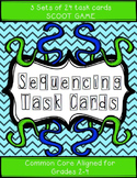 3 SETS of Sequencing Task Cards/Scoot Game - grades 2-4