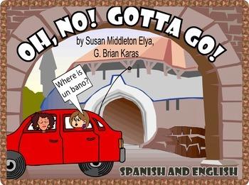 3 SPANISH-ENGLISH BOOKS!  FIESTA FIASCO!  OH, NO, GOTTA GO!  BABY GOES SHOPPING!