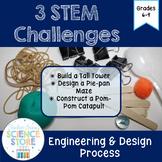 3 STEM Challenges- Engineering & Design Activity