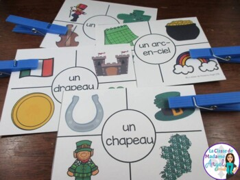 3 Saint Patrick's Day Themed Vocabulary Games in French