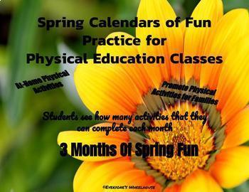 Physical Activity Calendar Bundle--3 Seasons of P.E. Fun