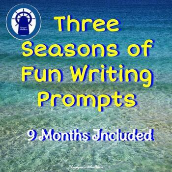 3 Seasons of Writing Fun--Bundle of 9 Months of Writing Prompts