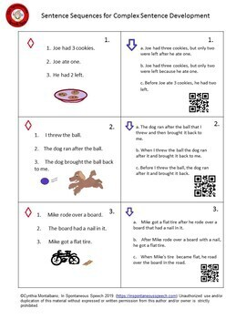 3 Sentence Sequencing Task Cards