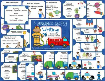 3 Sentence Story Writing Community Service Edition {Writing Fiction}