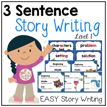 Worksheet Story Writing For Grade 3 3 sentence story writing fiction by a grade one nut tpt fiction